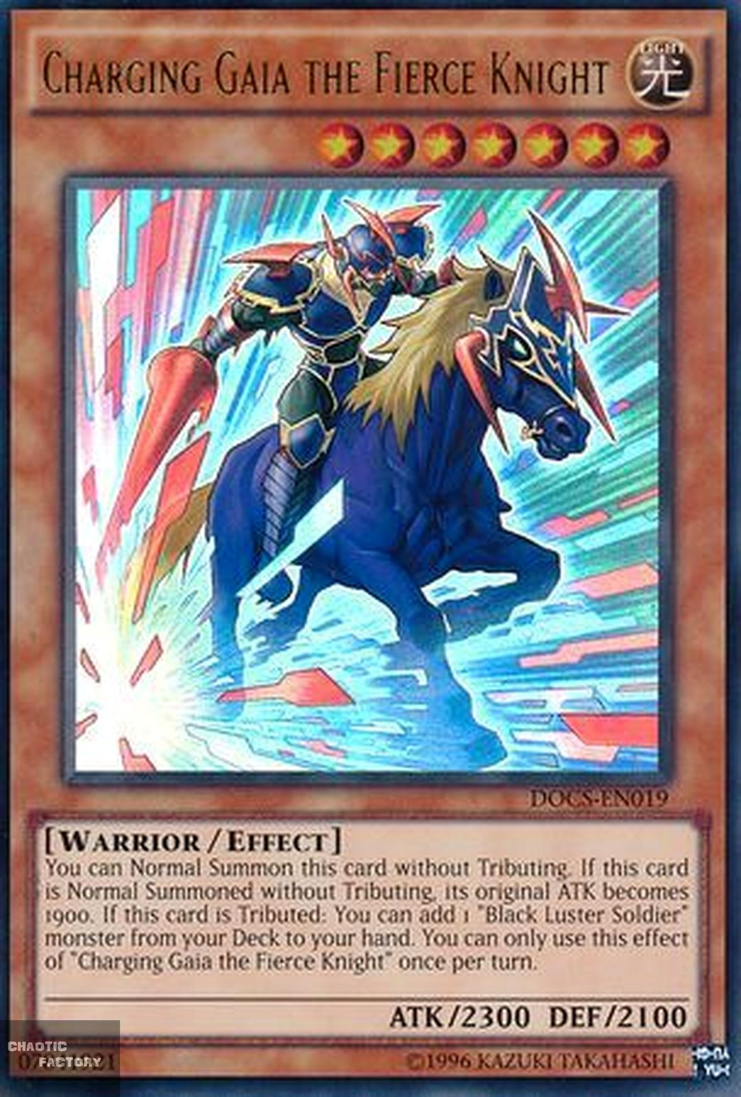 Yugioh Charging Gaia The Fierce Knight Docs En019 Ultra Rare Unlimited