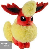 "Tomy Pokemon Eeveelution Flareon 8"" Stuffed Plush"