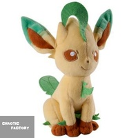 "Tomy Pokemon Eeveelution Leafeon 8"" Stuffed Plush toy 20cm"