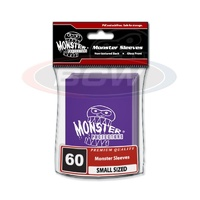 BCW Glossy Sleeves - Small - Monster Logo - Purple For Yugioh/Vanguard