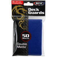 BCW Deck Guard - Matte - Blue 50pc Standard Size Sleeves for MTG/Pokemon