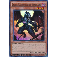 Yugioh Draghig, Malebranche of the Burning Abyss Super Rare CROS-EN082 1st Edition NM