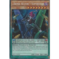 Yugioh DESO-EN018 Abyss Actor - Superstar Secret Rare 1st Edition