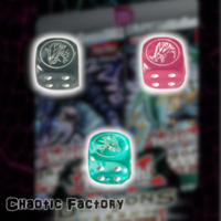 Yugioh Official Dice - Dragons of Legend The Complete Series - Art set Timaeus, Critias, Hermos