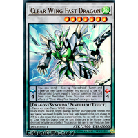 Yugioh DUDE-EN011 Clear Wing Fast Dragon Ultra Rare 1st Edition NM