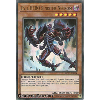 Yugioh LED5-EN014 Evil HERO Sinister Necrom Ultra Rare 1st edition NM