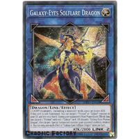 Yugioh MP19-EN188 Galaxy-Eyes Solflare Dragon Prismatic Secret Rare  NM