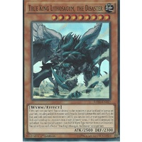 YUGIOH True King Lithosagym, the Disaster RATE-EN019 Super Rare 1st edition MINT