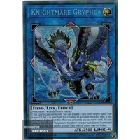 Yugioh FLOD-EN048 Knightmare Gryphon Secret Rare 1st Edition NM