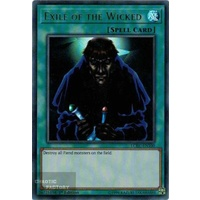 Yugioh LCKC-EN100 Exile of the Wicked x3 Ultra Rare 1st Edition