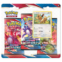 Pokemon TCG Battle Styles 3 Pack Blister ft. Eevee