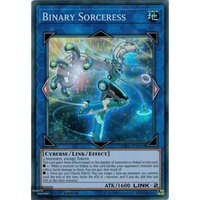 Yugioh SDCL-EN043 Binary Sorceress Super Rare 1st Edition