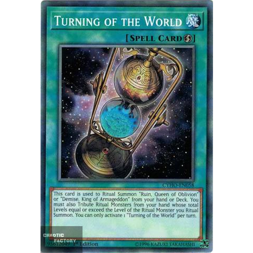 Yugioh - CYHO-EN058 - Turning of the World Common 1st Edition NM