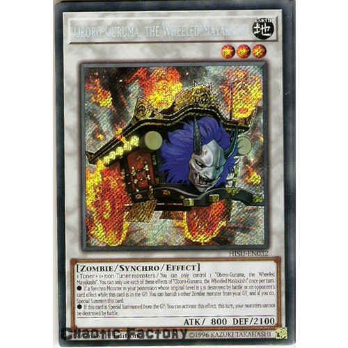 Yugioh HISU-EN032 Oboro-Guruma, the Wheeled Mayakashi Secret Rare 1st Edition NM