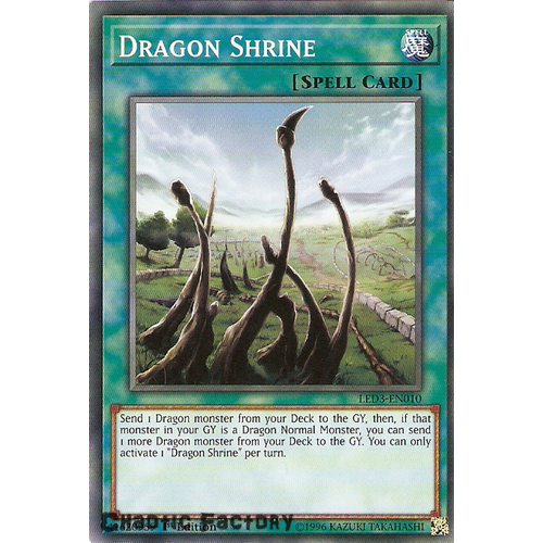 Yugioh LED3-EN010 Dragon Shrine Common 1st Edition NM