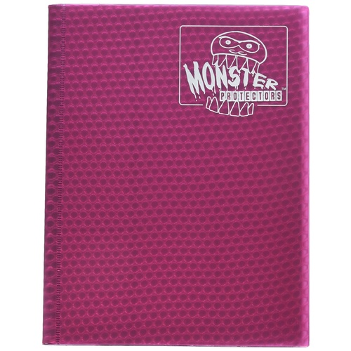 Monster Binder - 9 Pocket Trading Card Album - Holofoil Pink - Holds 360 Yugioh, Magic, and Pokemon Cards