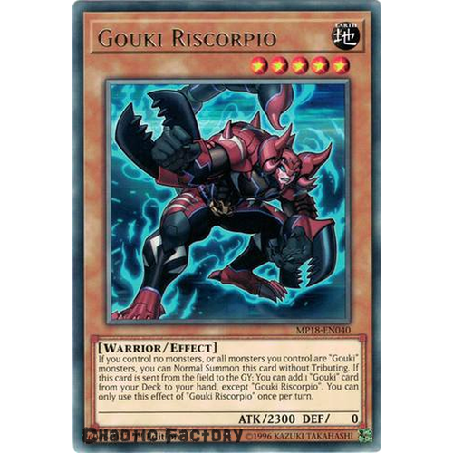 Yugioh MP18-EN040 Gouki Riscorpio Rare 1st Edition NM
