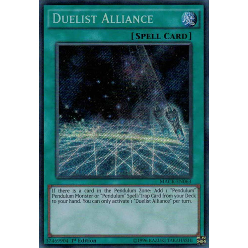 Yugioh Duelist Alliance Secret Rare MACR-EN063 1ST EDITION