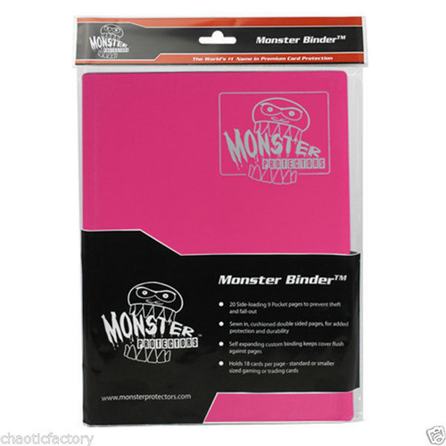 Monster Binder Matte Pink Holds 360 Yugioh, Magic, And