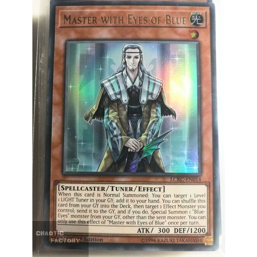 Yugioh LCKC-EN014 Master with Eyes of Blue Ultra Rare 1st Edition