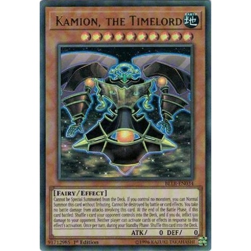 YUGIOH Kamion, the Timelord Ultra Rare BLLR-EN034   1st edition Mint