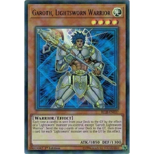 YUGIOH Garoth, Lightsworn Warrior Ultra Rare BLLR  1st edition